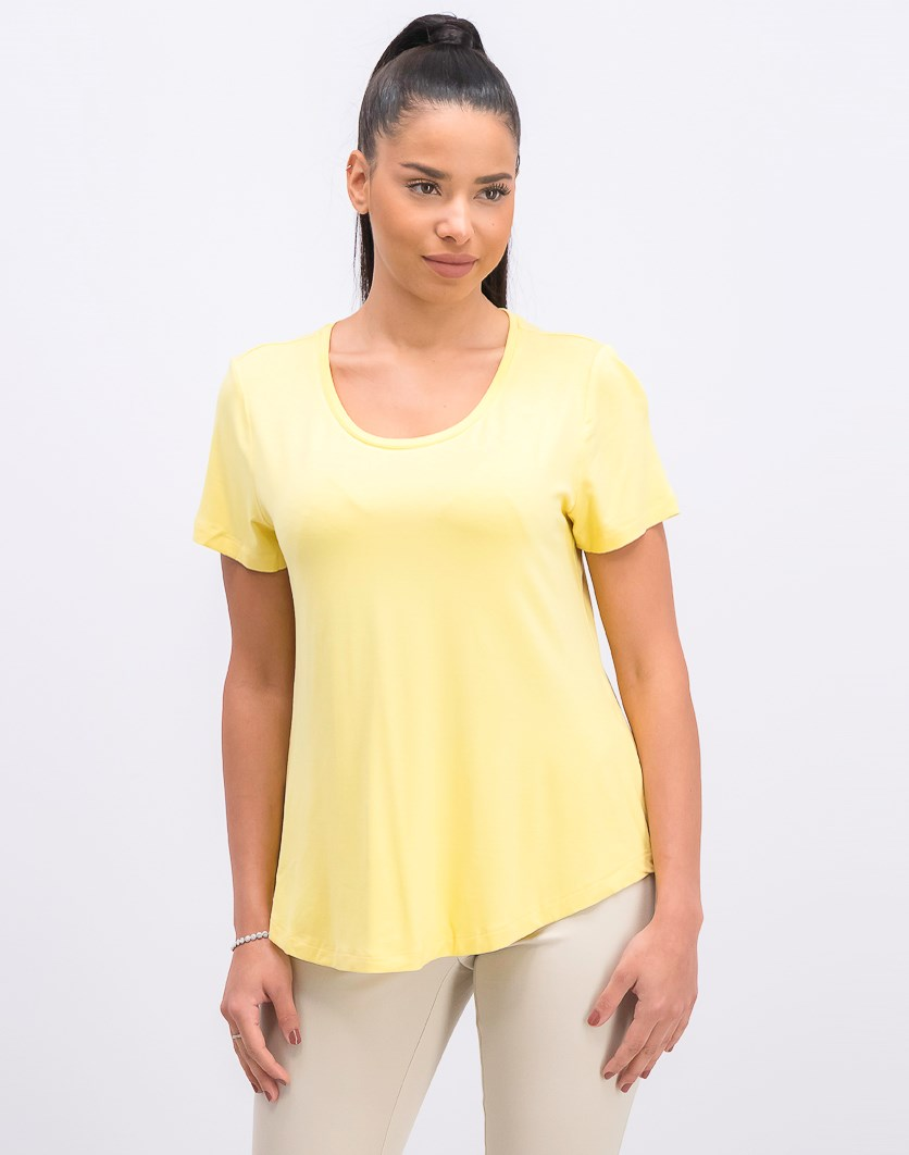 Women's Petite Shirttail-Hem Top,  Lemon Frost