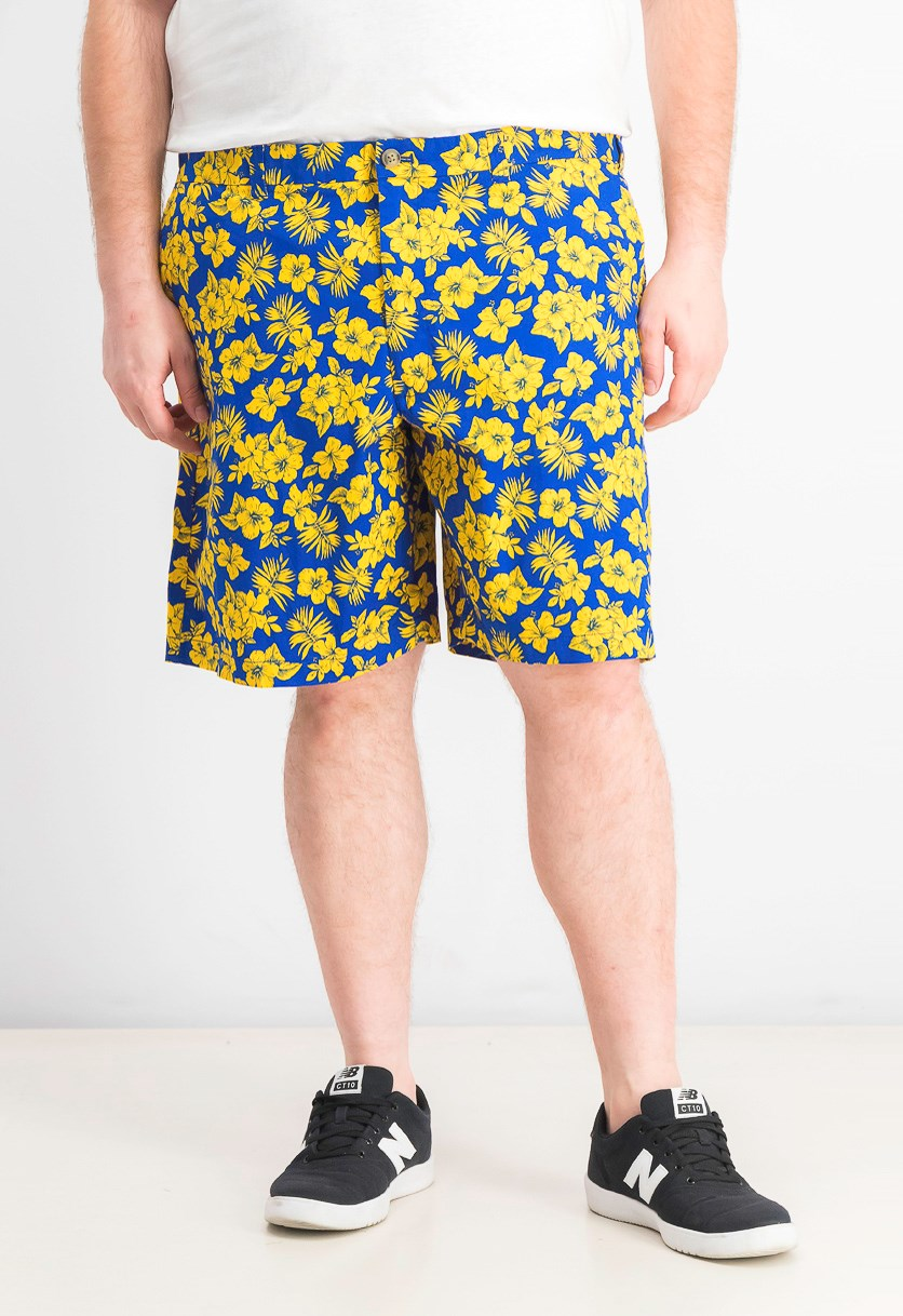 Men's Memei Floral Graphic Shorts, Lazulite Combo