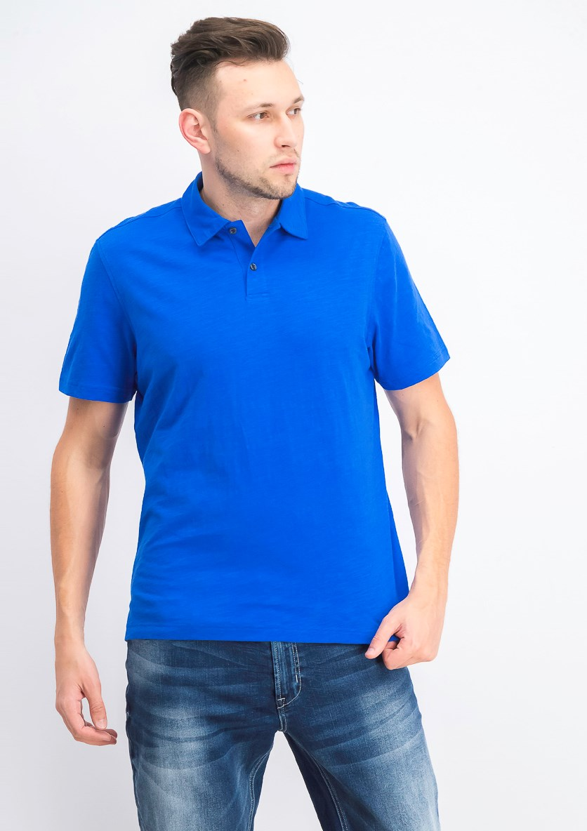 Men's Slub Polo, Stormy Sea