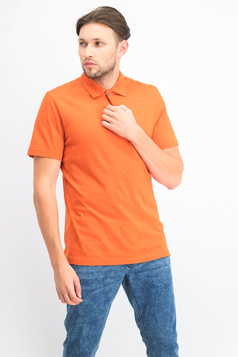 Men's Slub Polo, Flame