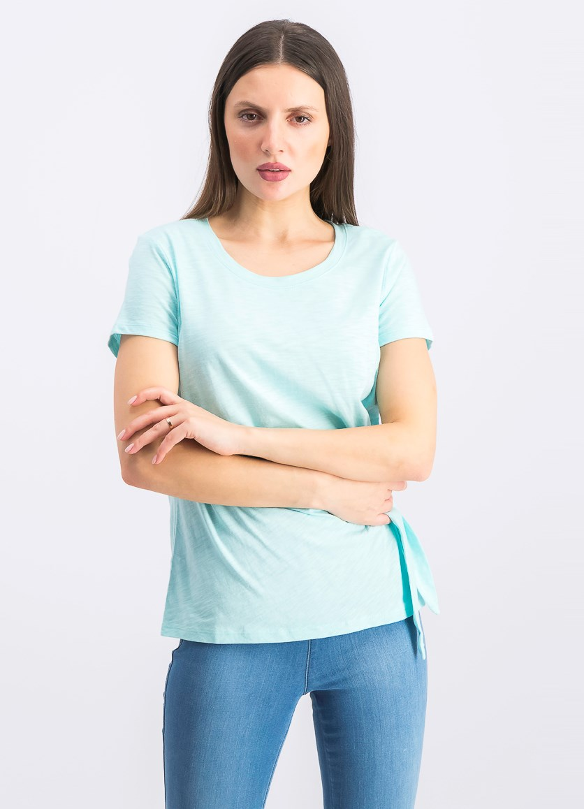 Petite Side-Tie Top, Refreshing Teal