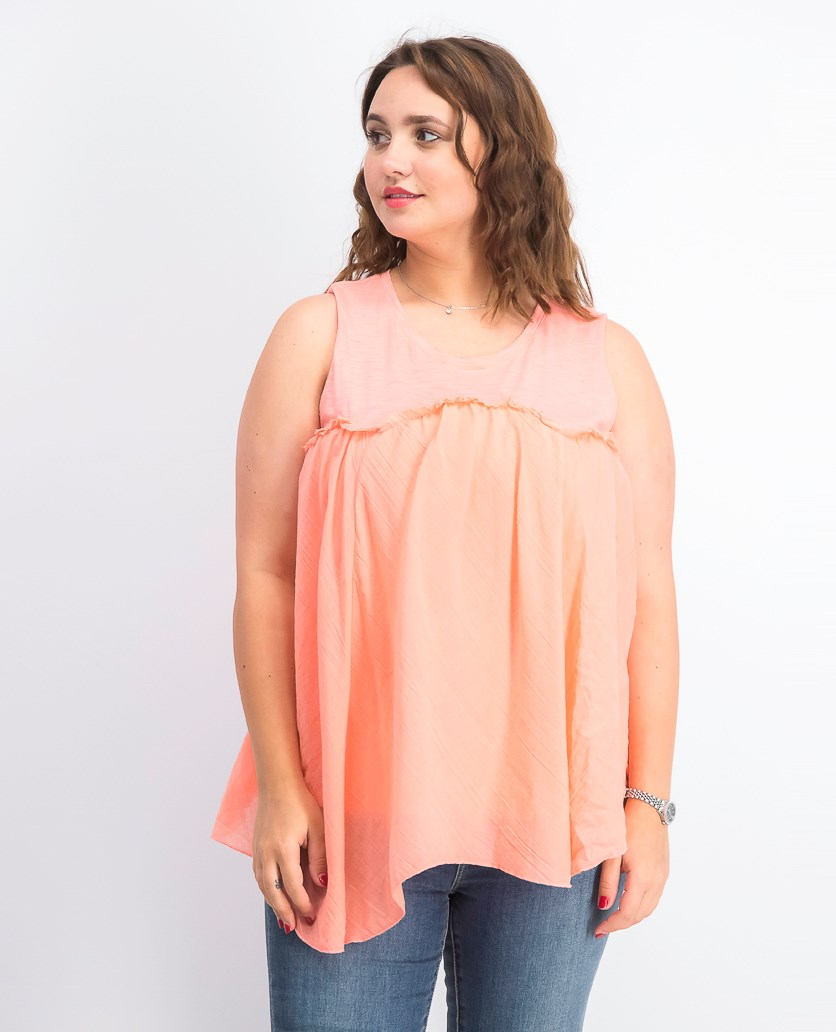 Women's Handkerchief-Hem Top, Peachberry
