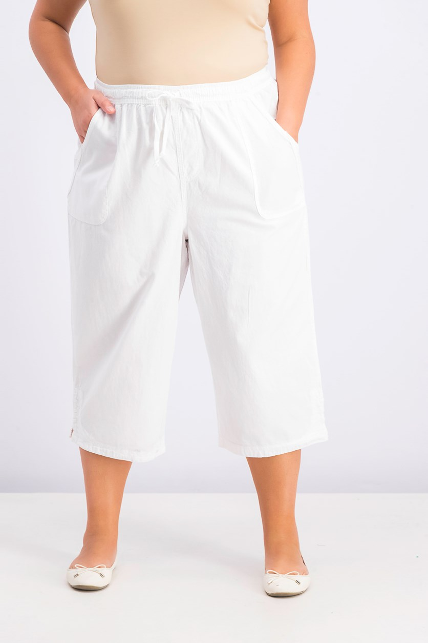Women's Plus Size Kiera Capri Pants, White