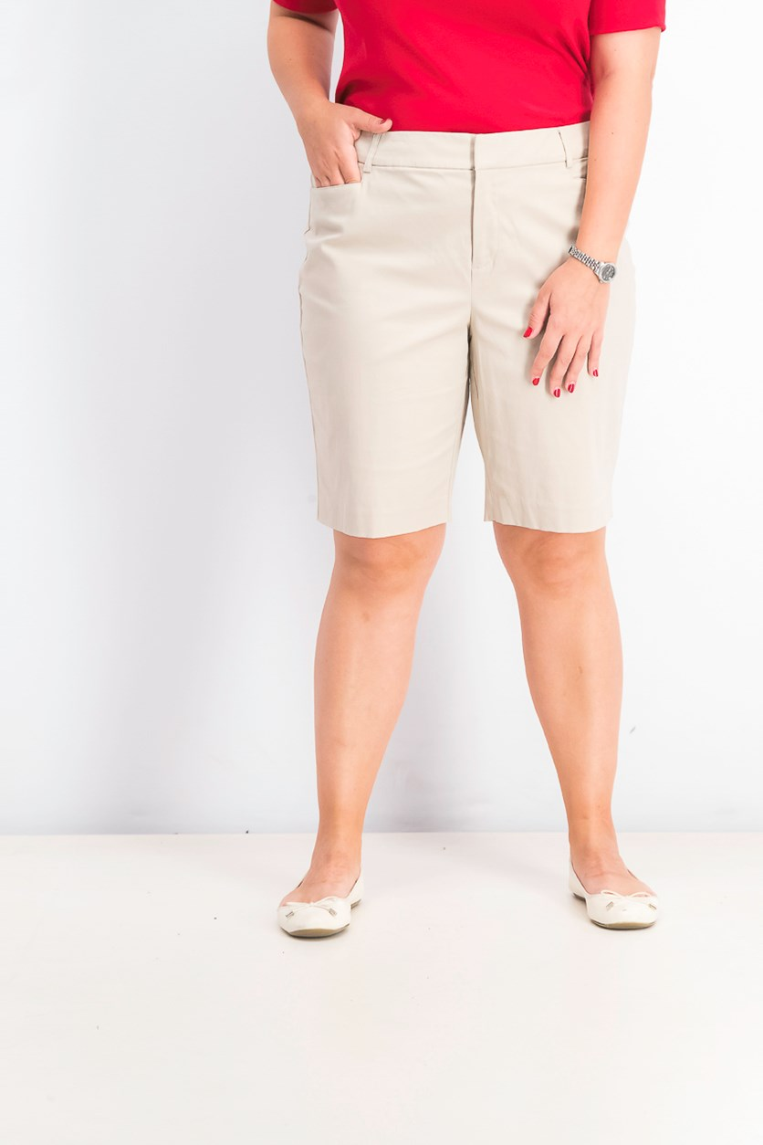 Women's Twill Bermuda Shorts, Sugar Sand