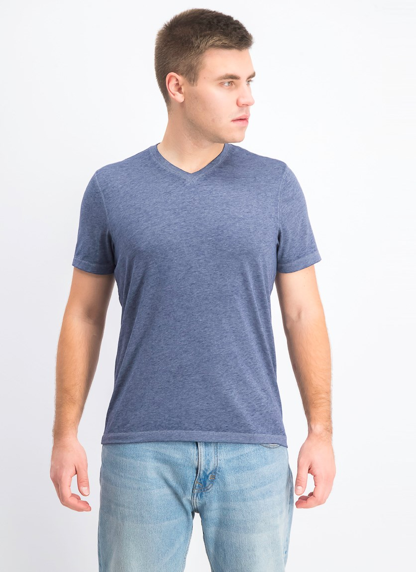 Men's Heathered T-Shirt, Basic Navy