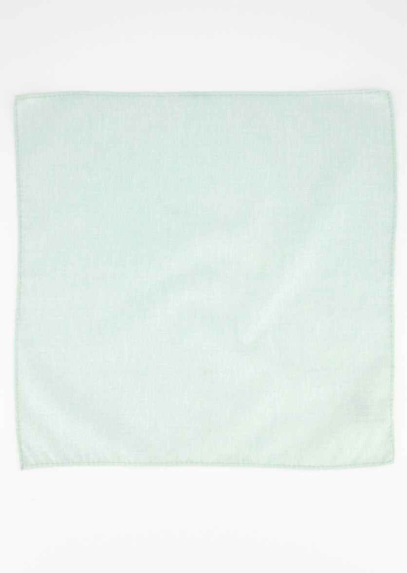 Men's Beach Solid Pocket Square, Turquoise