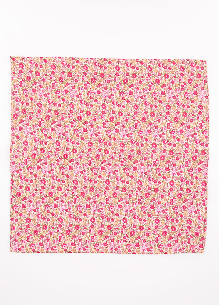 Men's Douglas Floral Pocket Square, Pink