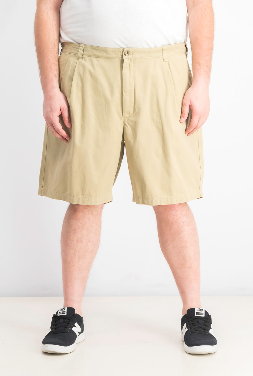 Men's Double-Pleated 9 Shorts, Creek Bed
