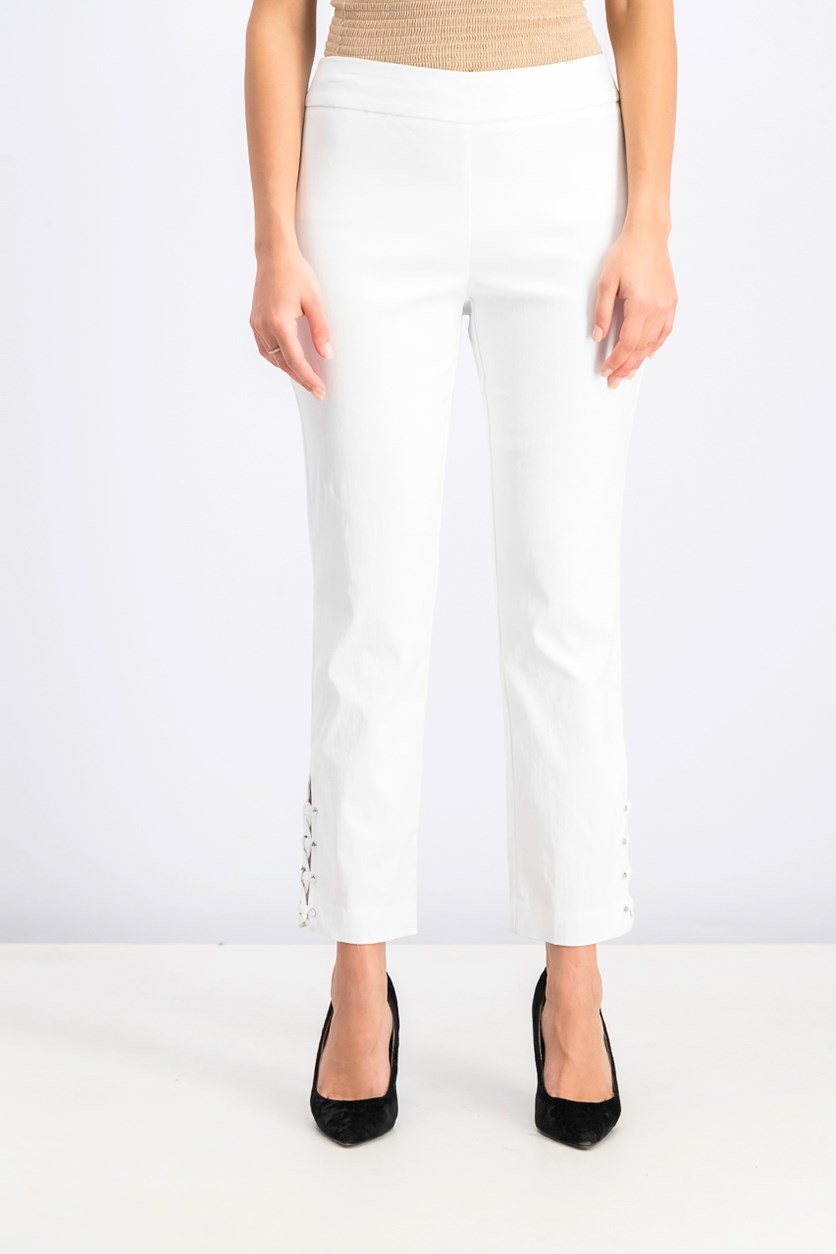 Women's Crisscross Ankle Pants, Bright White
