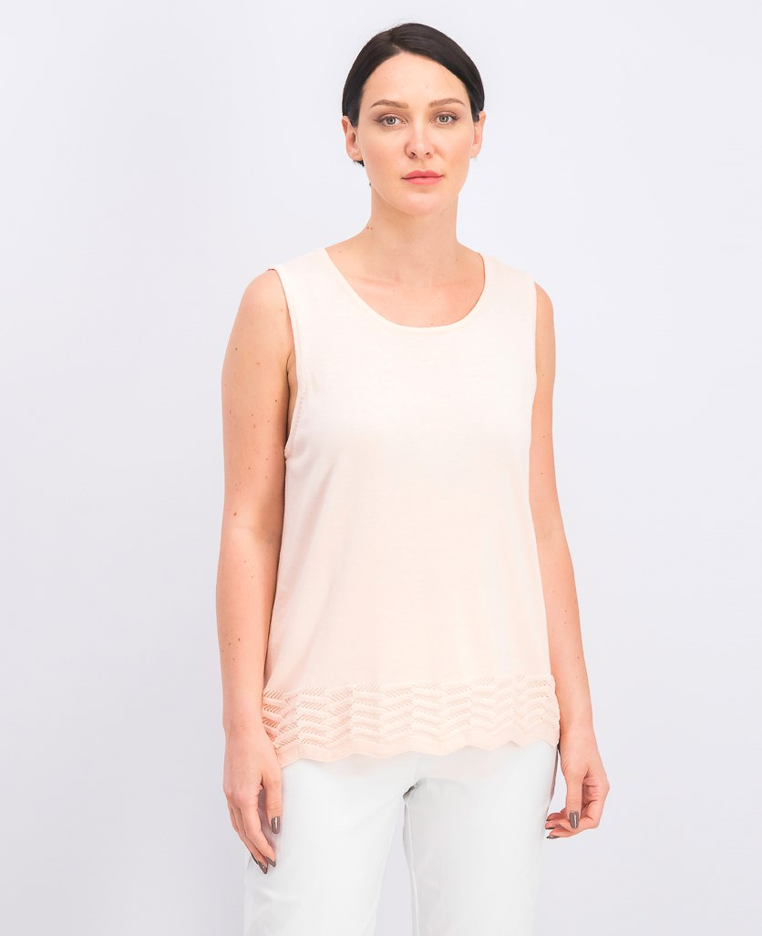 Women's Zigzag Tank Top, Luxe Peach