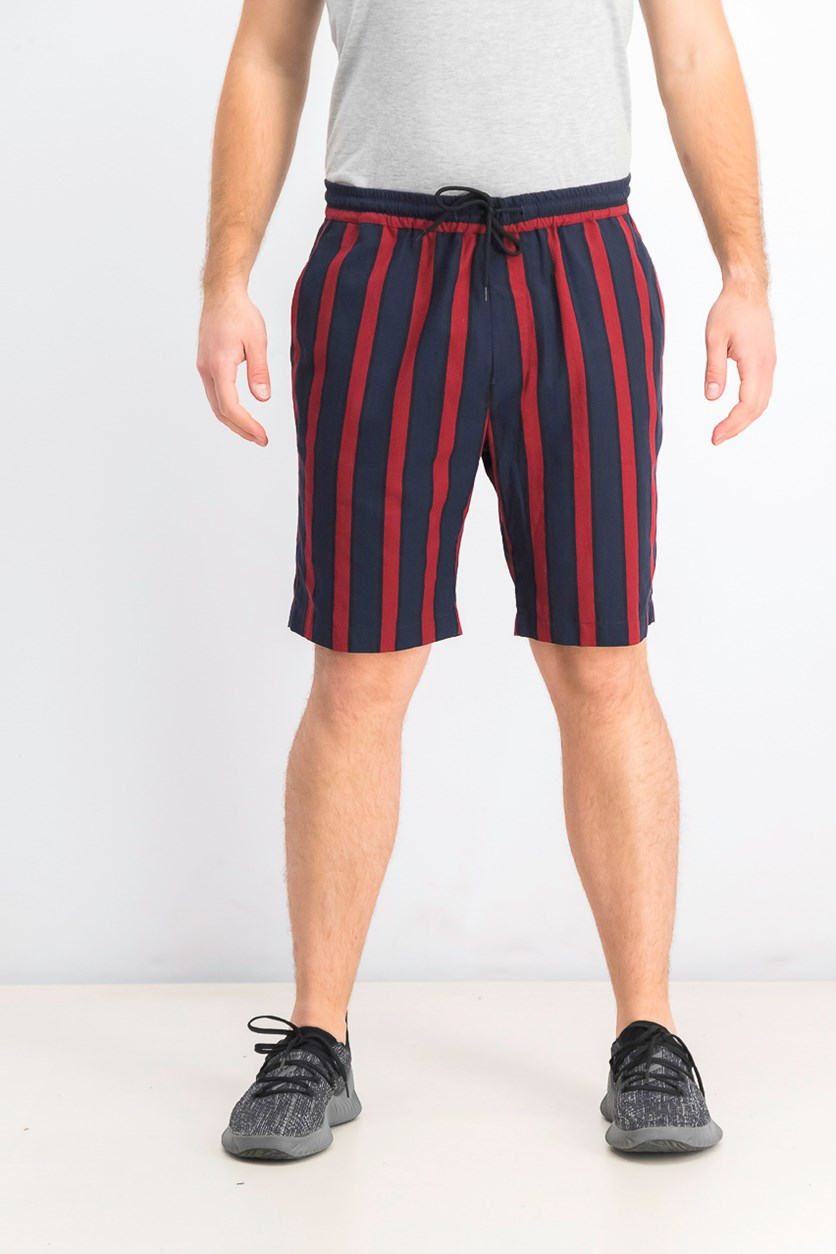 Men's Striped Shorts, Navy Combo