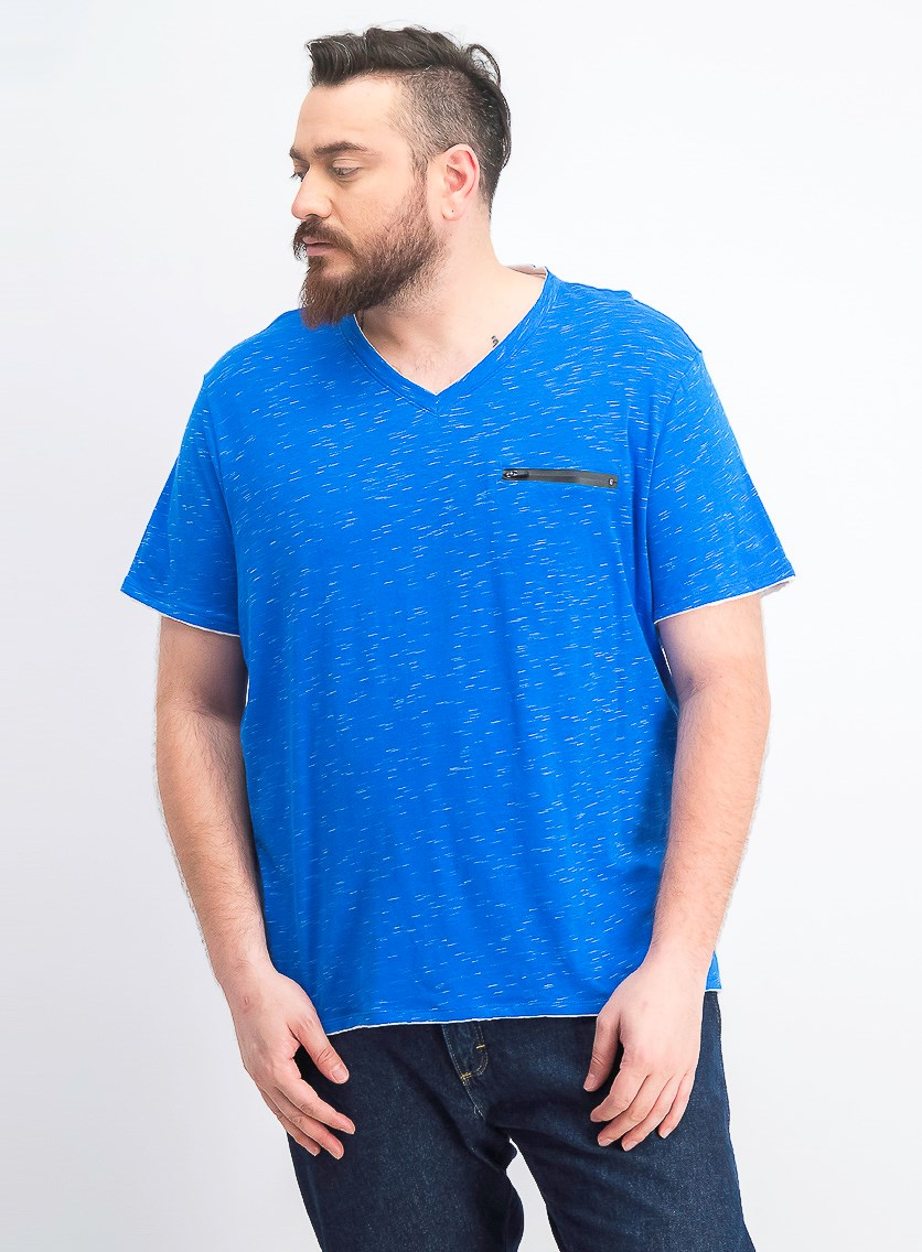 Men's V-Neck T-Shirt, Vibrant Blue