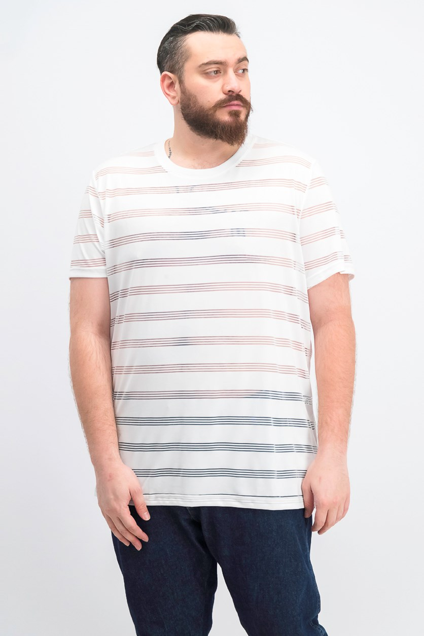 Men's Ample Stripe T-Shirt, White Pure