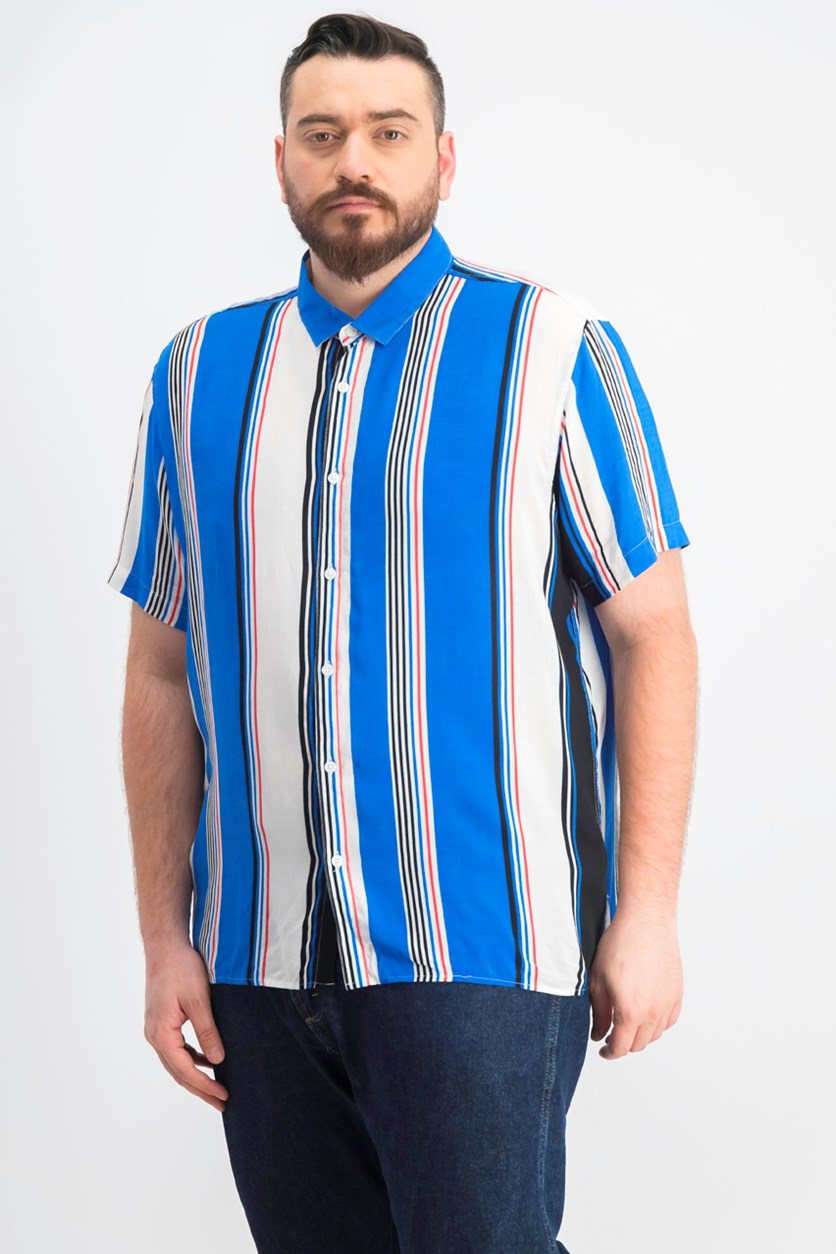 Men's Marco Striped Button-Down Shirt, Blue Combo