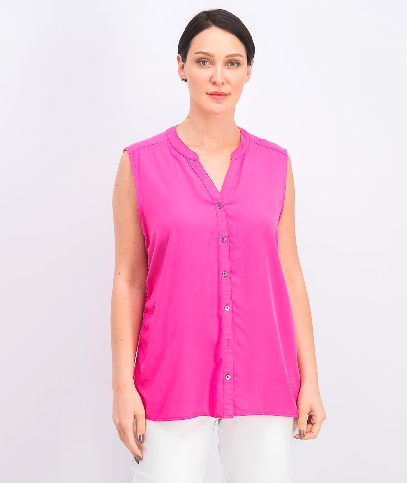 Women's Sleeveless Blouse, Pink Breeze