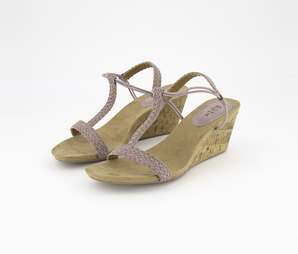 Women's Mulan Wedge Sandals, Lavender
