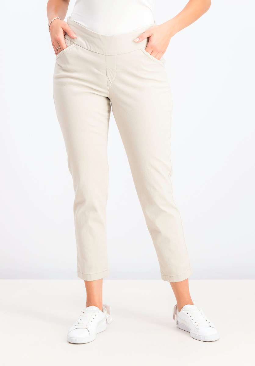 Women's Pull-on Slant-Pocket Ankle Pants, Stonewall