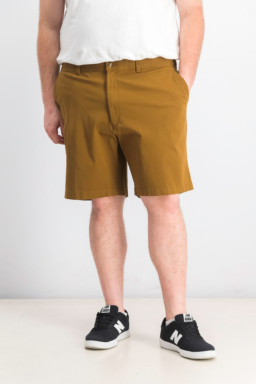 Men's Regular-Fit Stretch Shorts, Antlar Brown