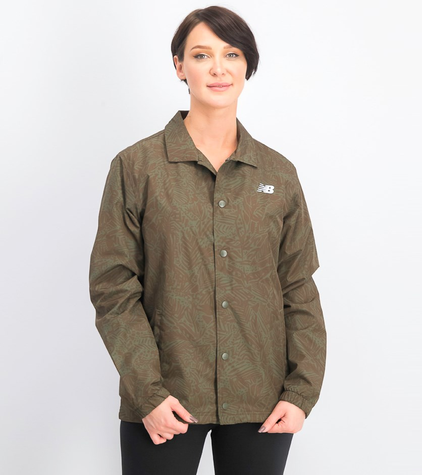 Women's Classic Coach Jacket, Olive
