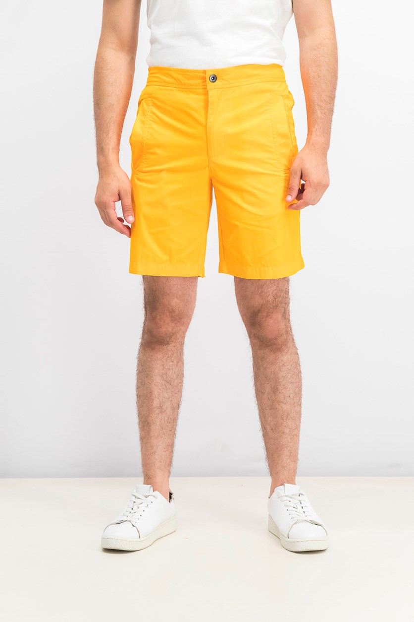 Men's Pull On Shorts, Orange
