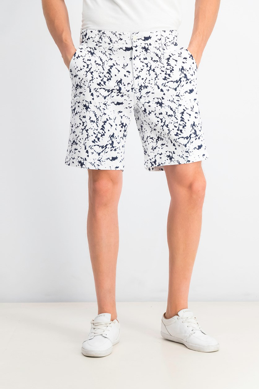 Men's Ink Splatter Graphic Shorts, Navy Blazer