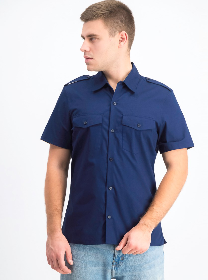 Men's Boy Scout Classic-Fit Utility Shirt, Navy Blue