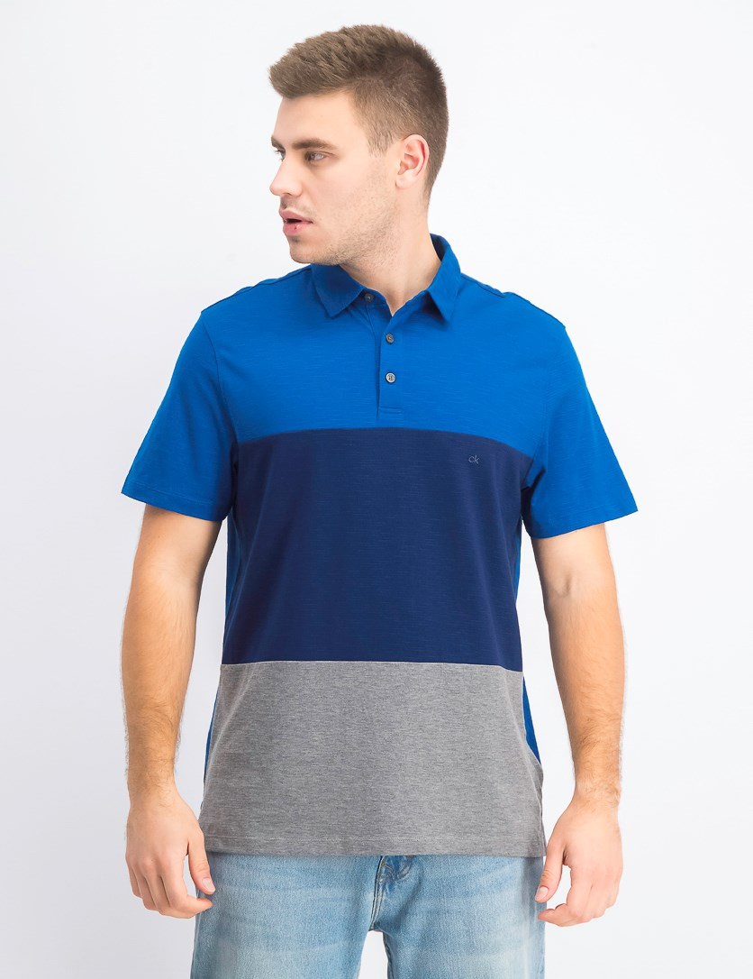 Men's Regular-Fit Colorblocked Polo Shirt, Nocturnal
