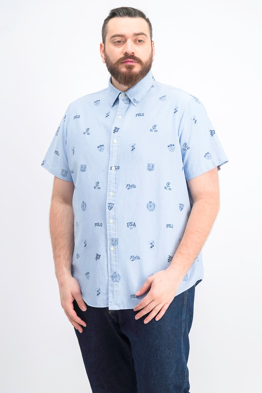Men's Classic-Fit Print Oxford Shirt, Tossed Icons