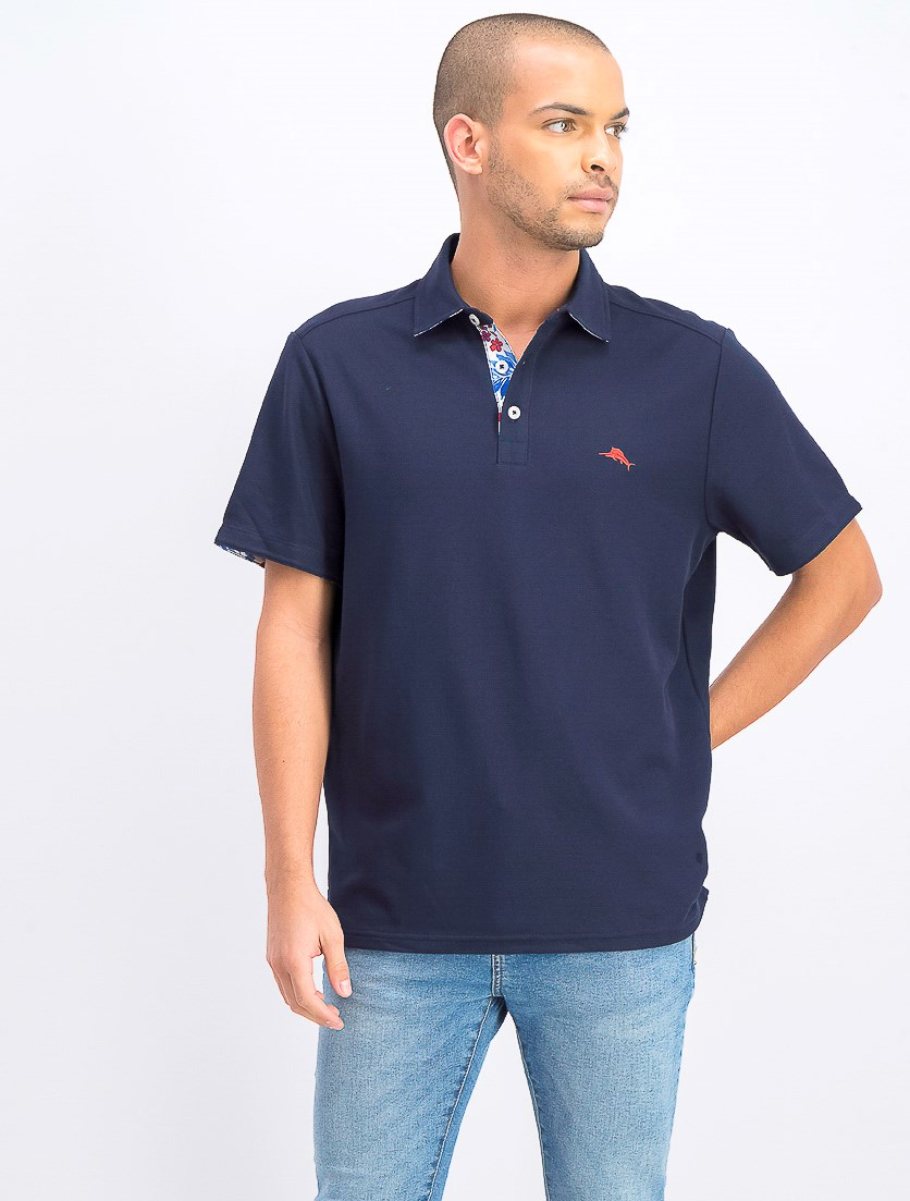 Men's Limited Edition 5 O'Clock Island Zone Pique Polo, Blue Note