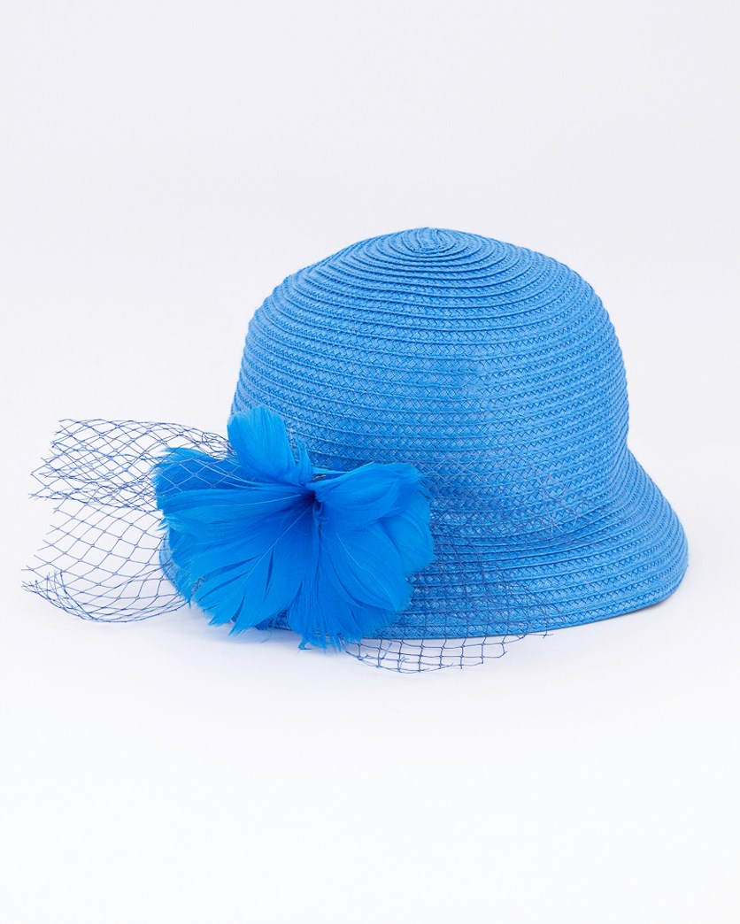 Women's Textured Hat, Blue