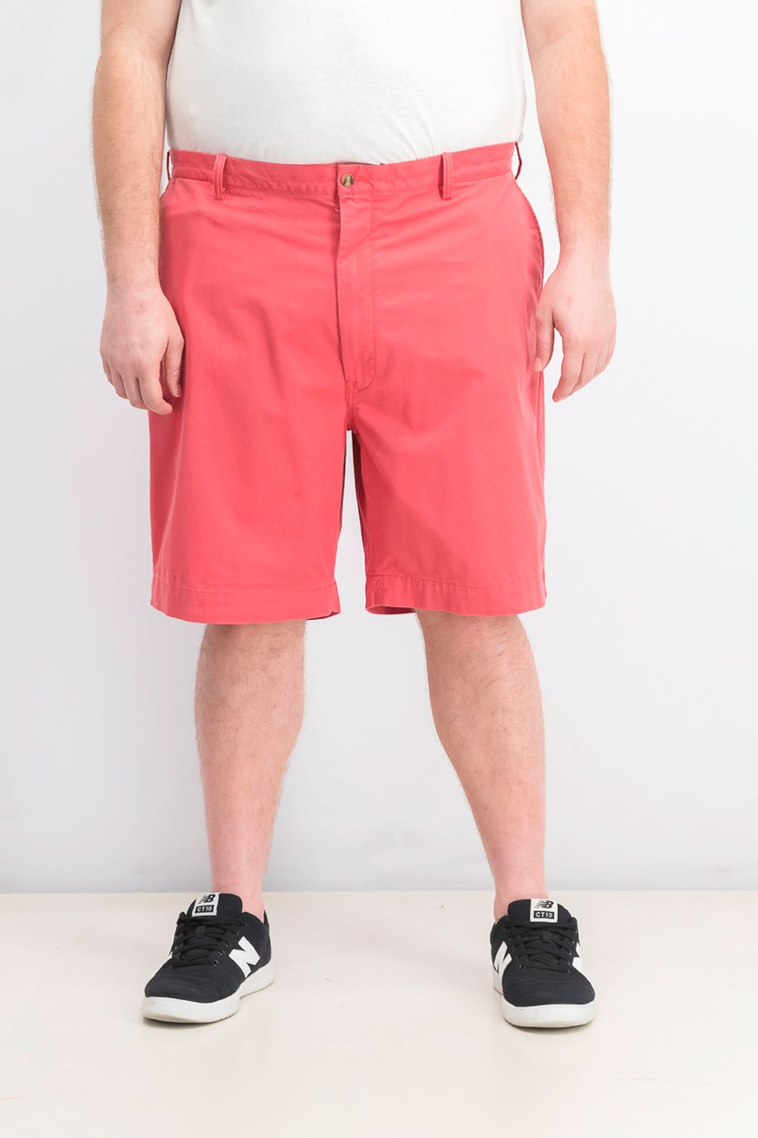 Men's Big & Tall Classic Fit Stretch Shorts, Medium Red