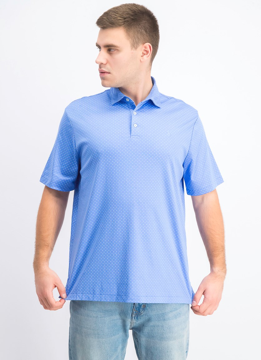 Men's Pullover Classic Fit Soft Touch Polo, Blue