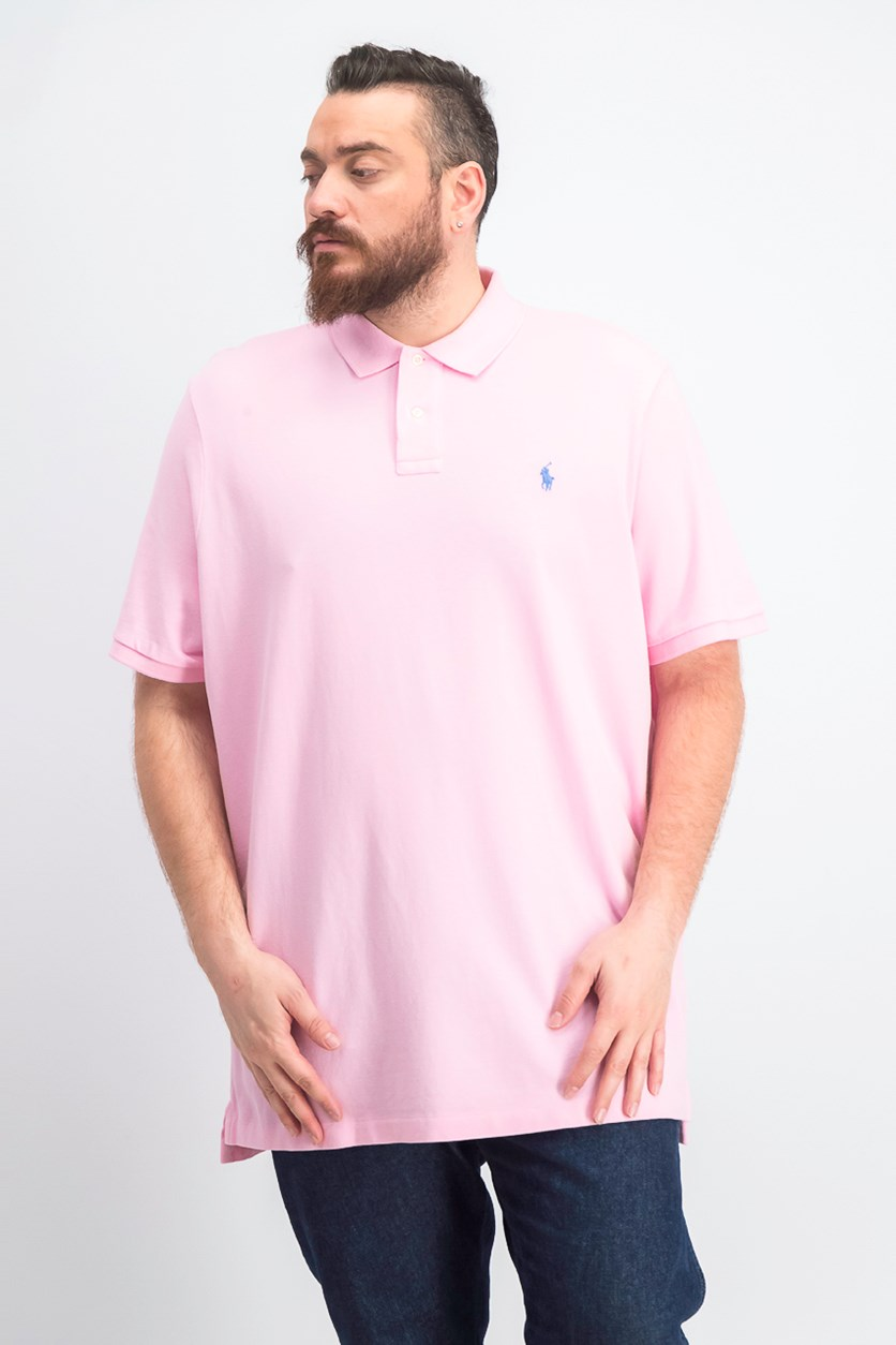 Men's Classic-Fit Mesh Polo, Pink