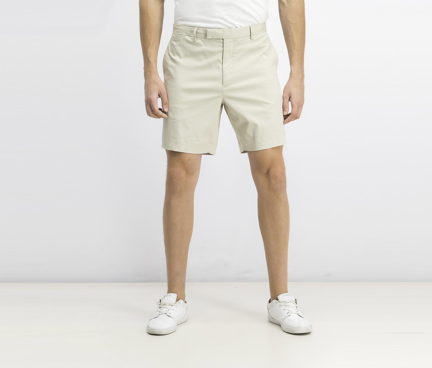 Men's Performance Stretch Straight Fit Shorts, Beige