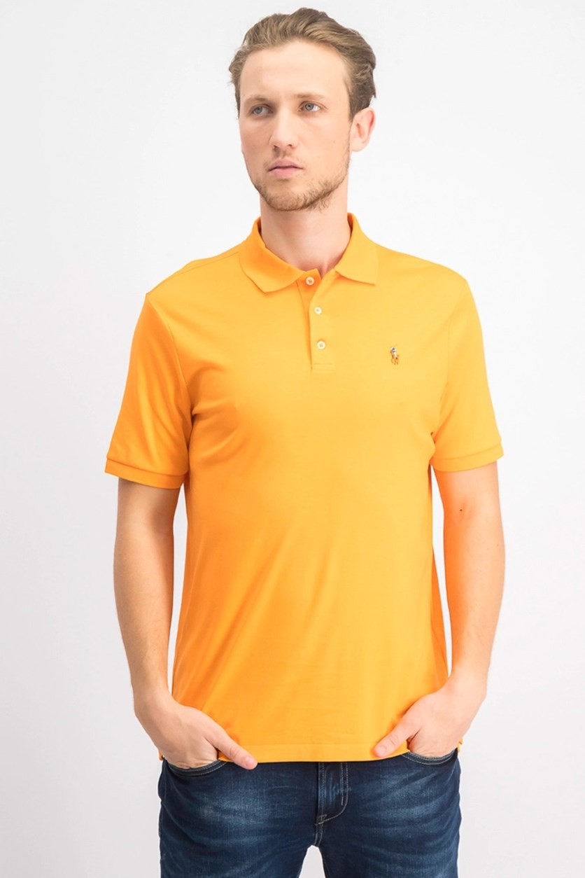 Men's Classic Fit Soft Touch Polo, Orange