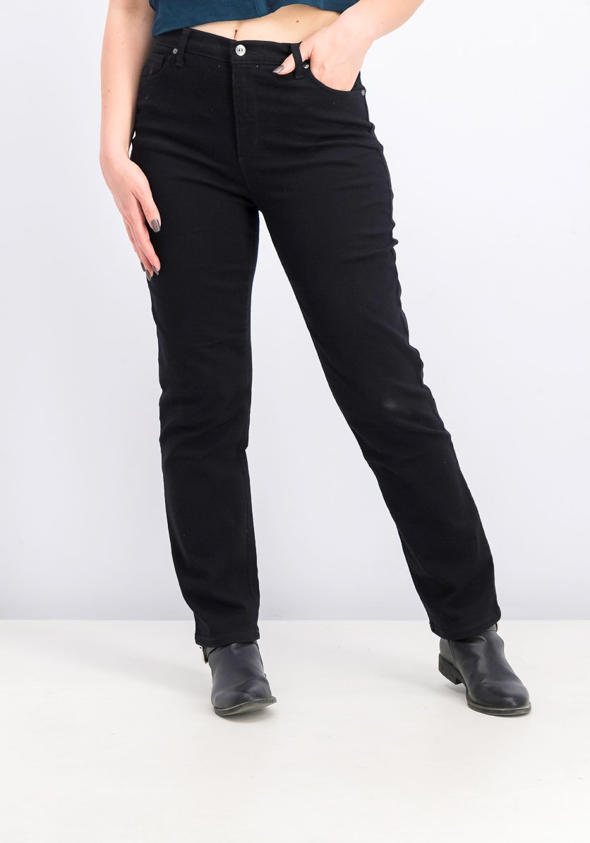 Plus Size Heritage Fit Tapered Leg Jeans, Black