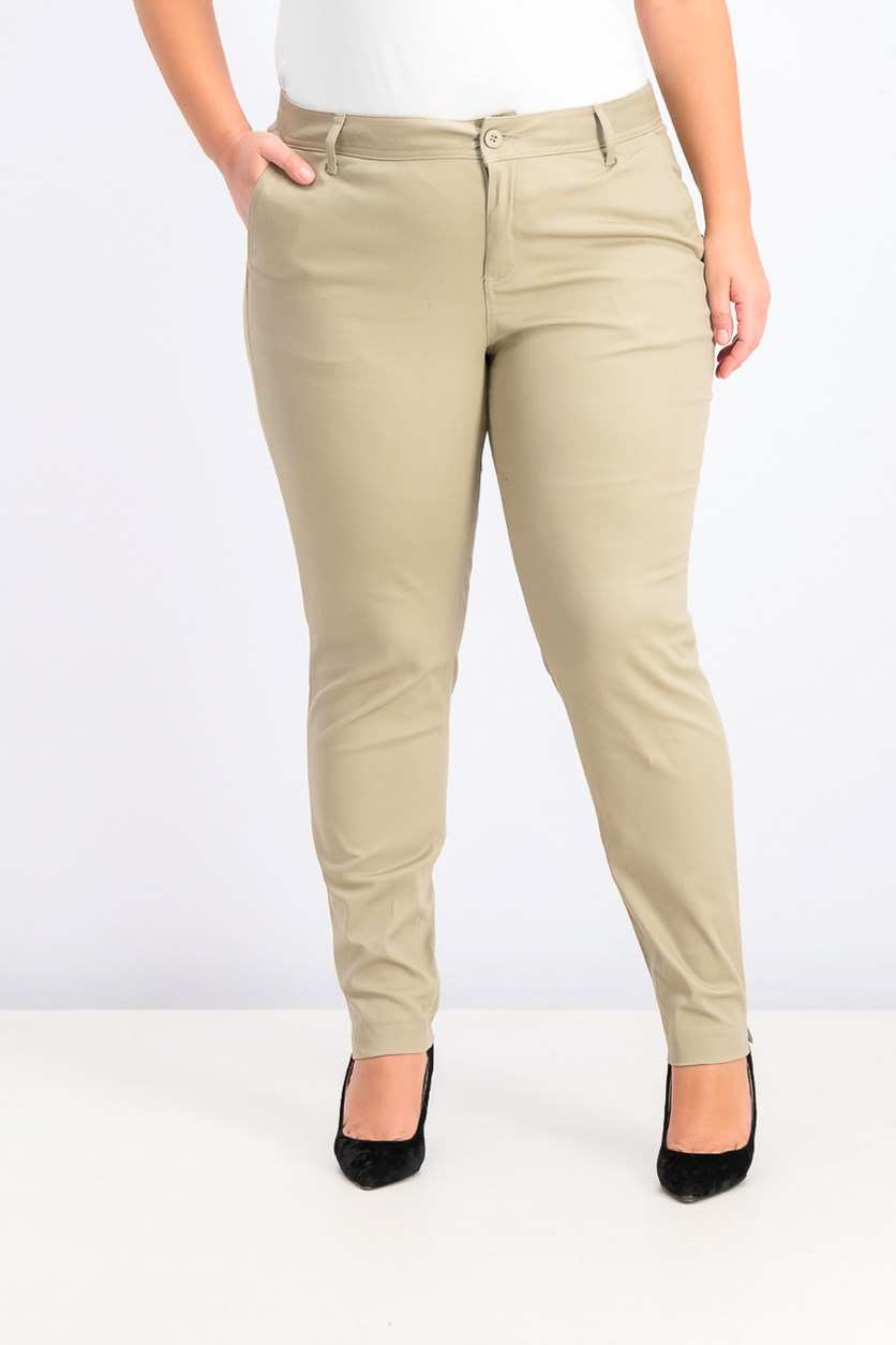 Women's Trendy Skinny Ankle Pants, Beige