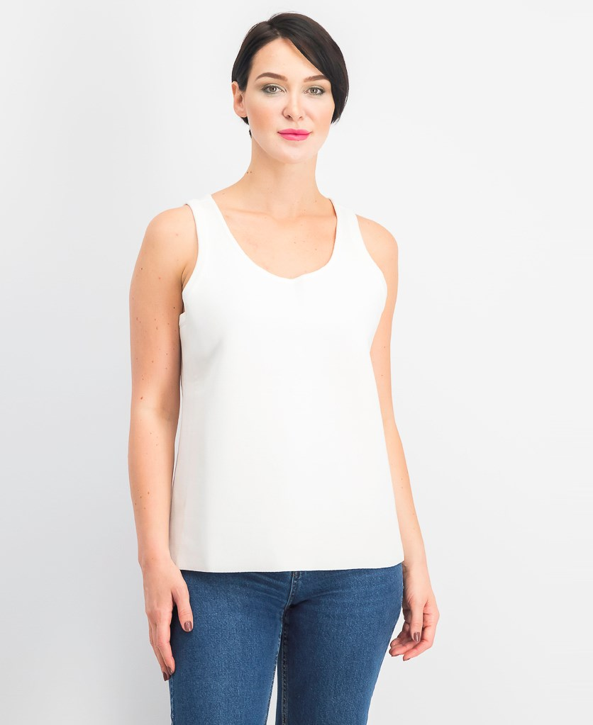 Women's Scoop Neck Sleeveless Top, White