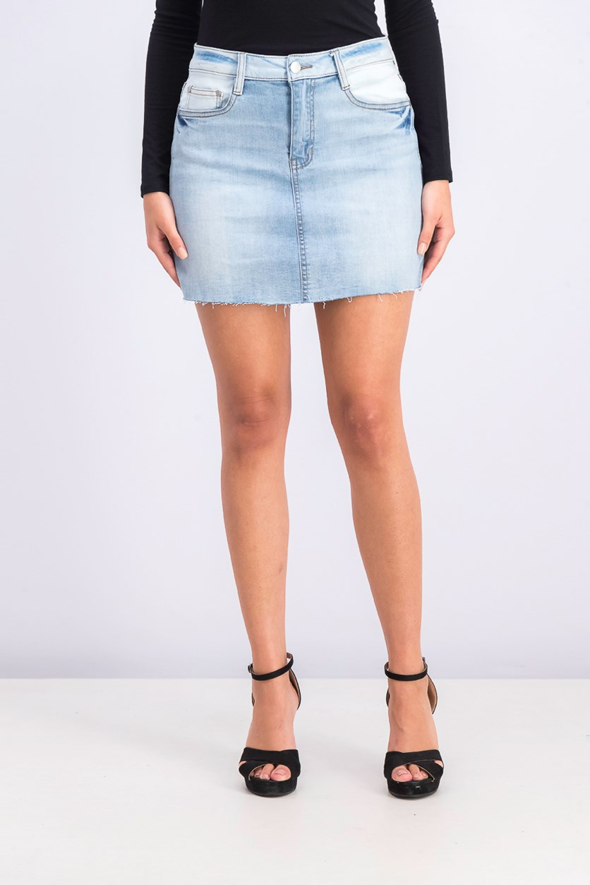 Women's Denim Mini Skirt, Couva Wash