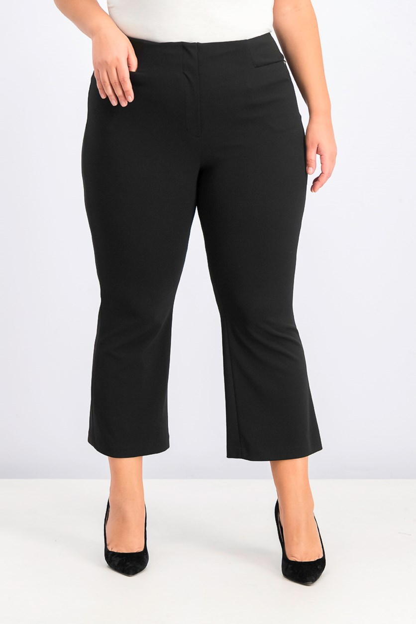 Women's Flared Ankle Pants, Black