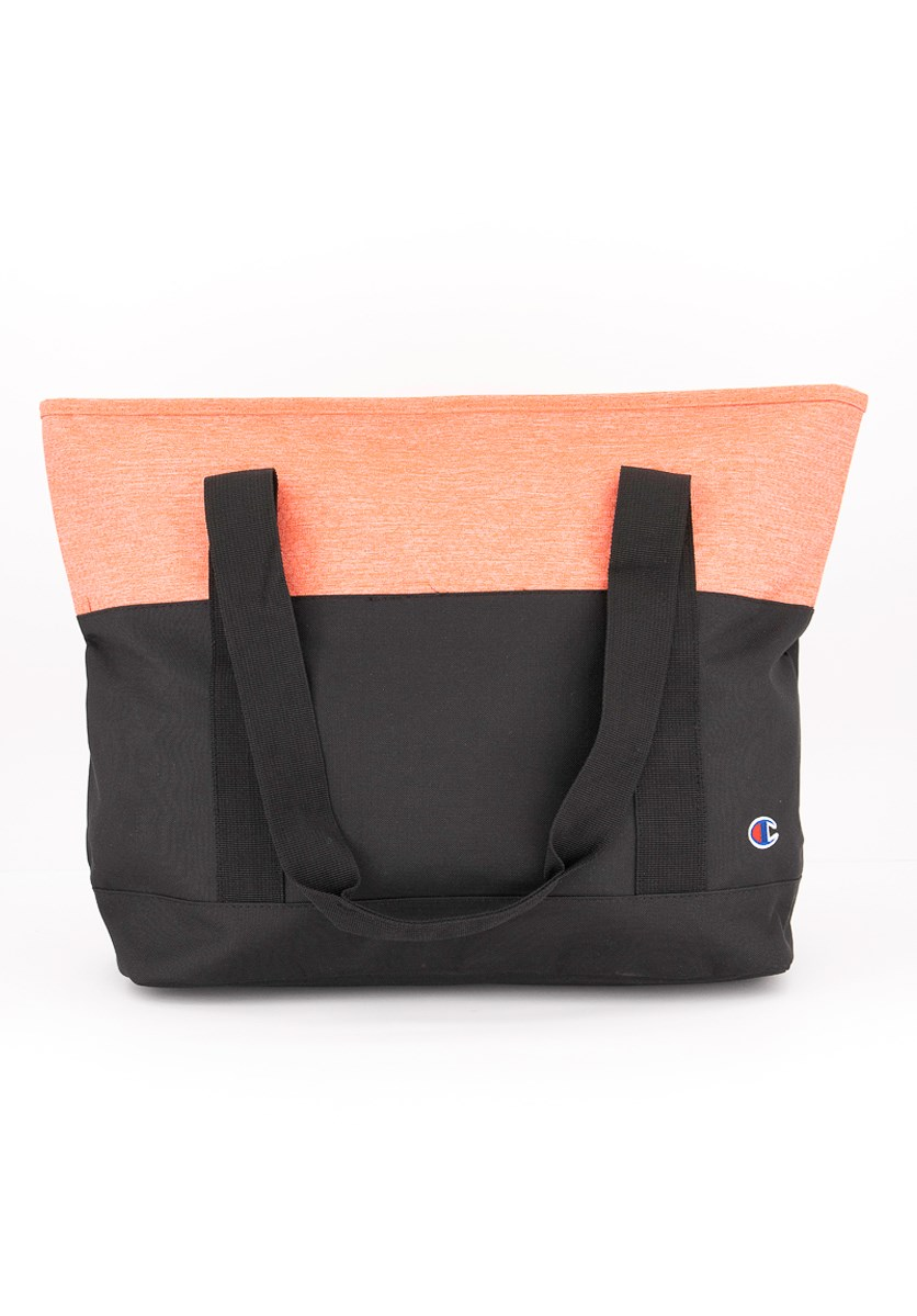 Women's Forever Champ Signal Tote Bags, Pink/Black