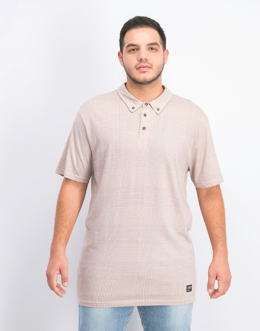 Men's Textured Casual Shirt, Sandy Rose