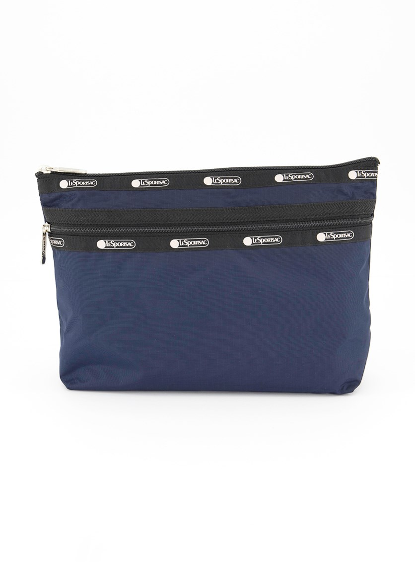 Women's Taylor Large Top Zip Cosmetic Case, Navy
