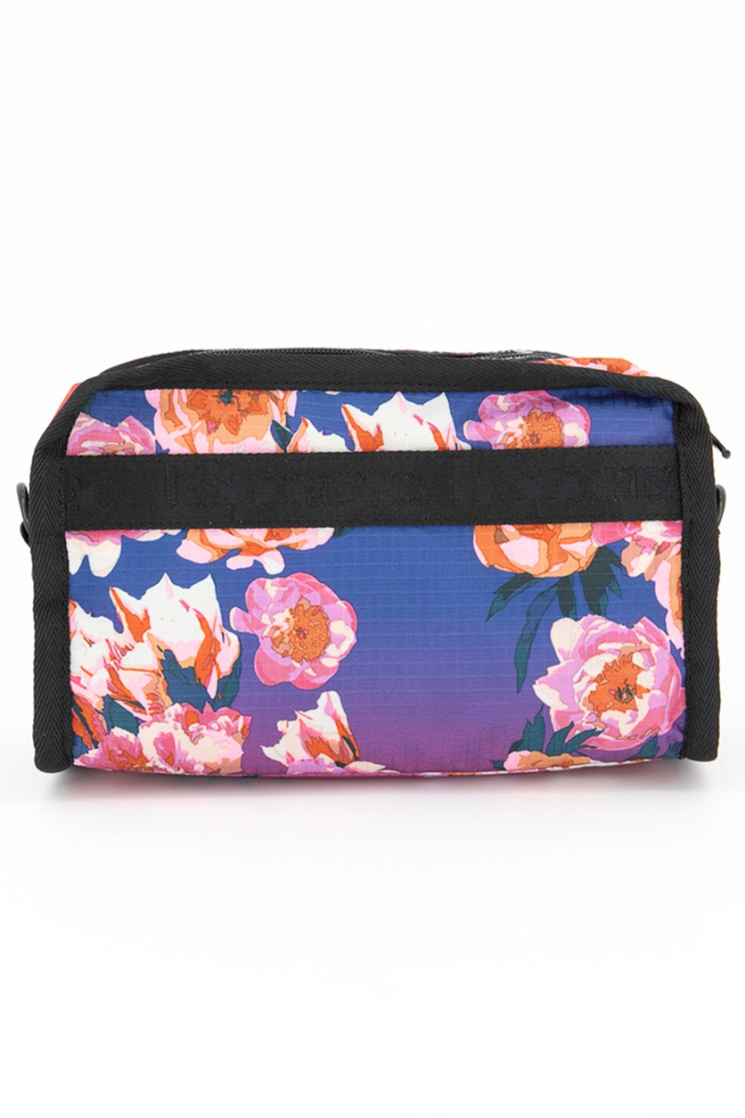 Floral Cosmetic Case, Floral Ombre