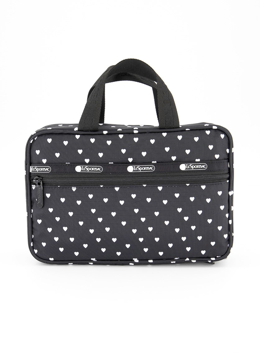 Candace Cosmetic Carrier, Black Mini Heart