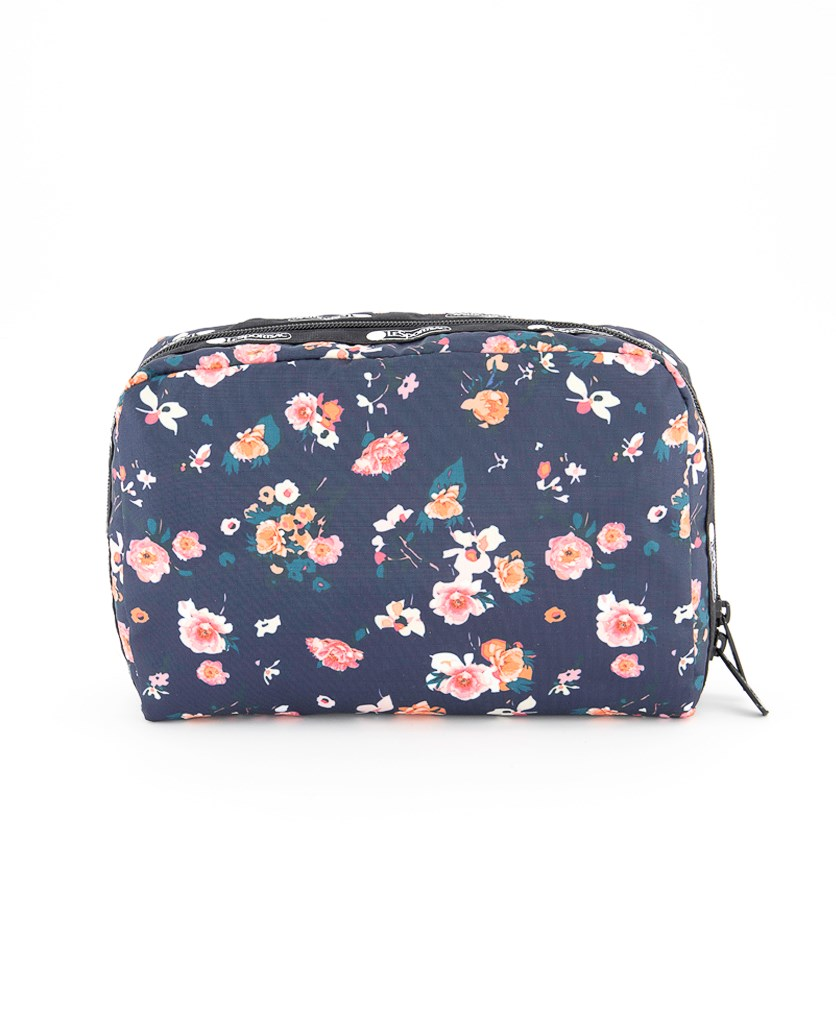 Women's Candace Large Top Zip Cosmetic Case, Spring Bloom