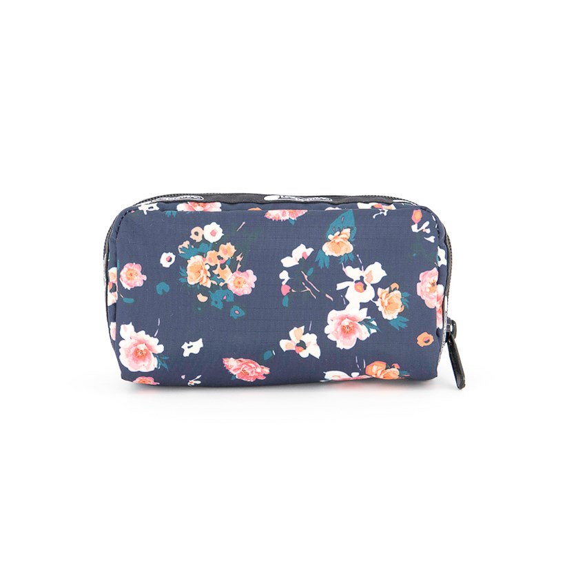 Women's Candace Small Top Zip Cosmetic Case, Spring Bloom
