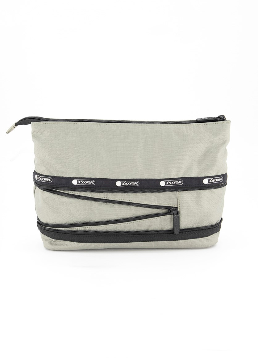 Colette Expandable Large Cosmetic Case, Matcha Python