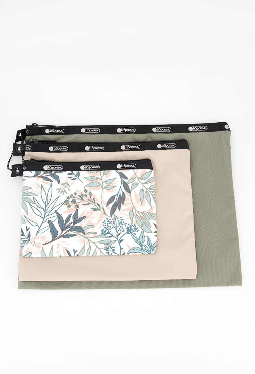 Madison Trio Cosmetic Case, Herbal Bouquet