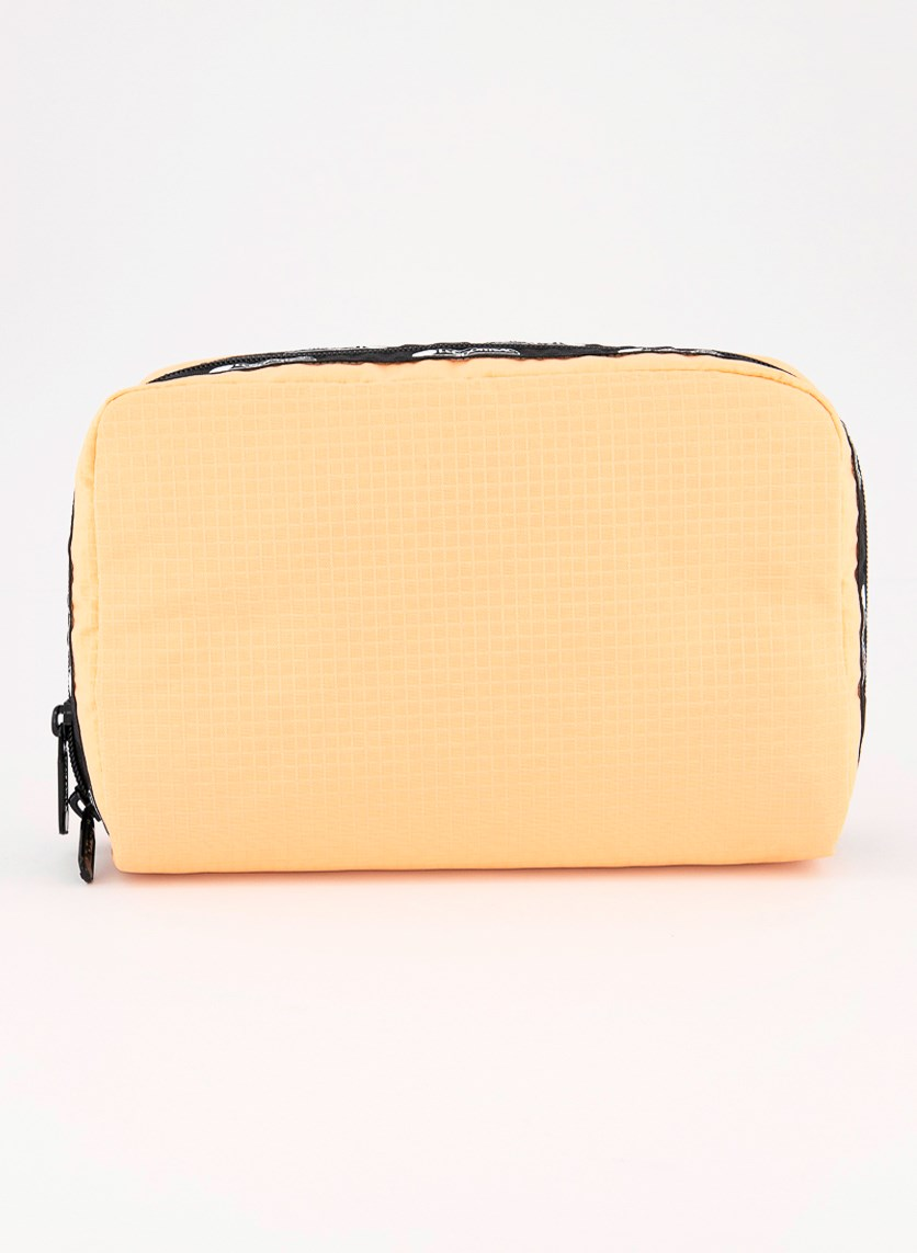 Women's Candace Large Top Zip Cosmetic Case, Melon